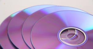 Pile de DVD blanc images libres de droits