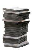 Pile de DVDs images stock