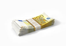 Pile de 200 euro billets de banque Photo stock
