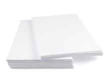 Pile de feuille de livre blanc de la taille a4 Images libres de droits