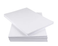 Pile de feuille de livre blanc de la taille a4 Photo libre de droits