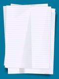 Pile de feuilles de papier Image stock
