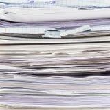 Pile de feuilles de papier Photo stock