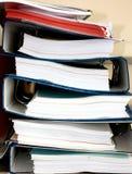 Pile de fichier Photographie stock libre de droits