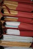 Pile de fichiers photographie stock