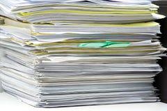 Pile de fichiers image stock