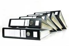 Pile de fichiers de bureau images stock