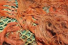 Pile de filet de pêche embrouillé. Photographie stock libre de droits