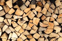 Pile de firewoods image stock