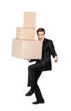 Pile de fixation de gestionnaire des boîtes en carton Image libre de droits