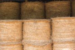 Pile de foin dans le modèle Photos libres de droits
