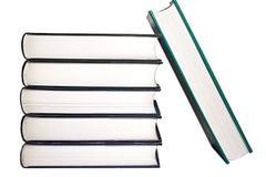 Pile de fond de livres d'isolement Photo stock