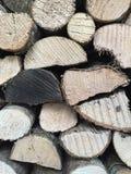 Pile de fond en bois du feu Photo libre de droits