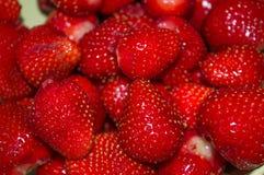 Pile de fond frais rouge de fraise Images libres de droits