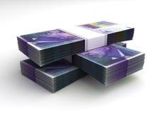 Pile de franc suisse illustration de vecteur