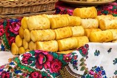 Pile de fromage d'oscypek Photo libre de droits