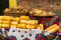 Pile de fromage d'oscypek Photographie stock libre de droits