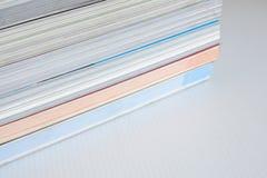 Pile de frontières de livre photographie stock