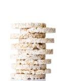 Pile de gâteau de riz Photos libres de droits