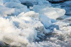 Pile de glace et de neige Photos stock