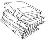 Pile de griffonnage de livres Image libre de droits