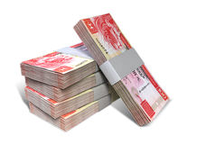 Pile de Hong Kong Dollar Notes Bundles Images libres de droits