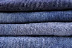 Pile de jeans Photo stock