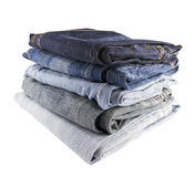 Pile de jeans Photos stock