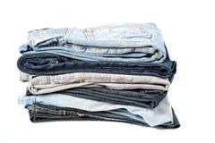 Pile de jeans image stock