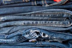 Pile de jeans Photographie stock