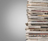 Pile de journal photo stock