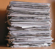 Pile de journaux Photo stock