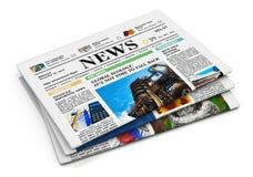 Pile de journaux illustration de vecteur