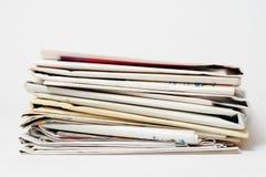 Pile de journaux Photos libres de droits