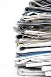 Pile de journaux Photos stock