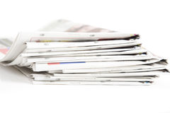 Pile de journaux Photographie stock