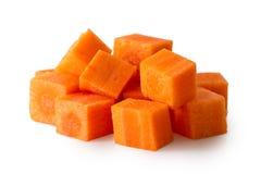 Pile de la carotte découpée d'isolement sur le blanc Photos stock