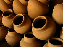Pile de la poterie Images libres de droits