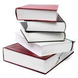 Pile de livre épaisse d'isolement avec le chemin de découpage Photos stock