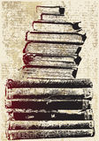 Pile de livre grunge Photo stock