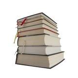 Pile de livres à l'arrière-plan blanc Photo libre de droits