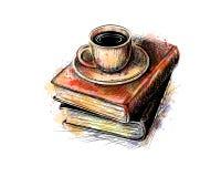Pile de livres illustration stock