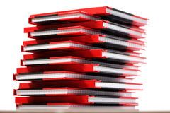 Pile de livres, carnets, journaux intimes Image stock