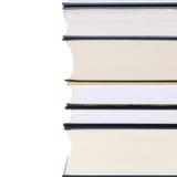 Pile de livres, d'isolement sur le blanc photos stock
