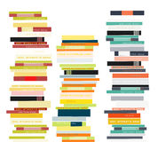 Pile de livres Illustration plate de style Image stock