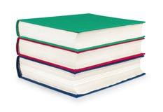 Pile de livres rouges, verts et bleus de vintage Photographie stock libre de droits
