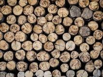 Pile de logs de bois de chauffage photo stock