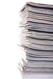 Pile de magazines Photographie stock libre de droits