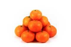Pile de mandarine d'isolement photo stock