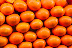 Pile de mandarines Photos stock